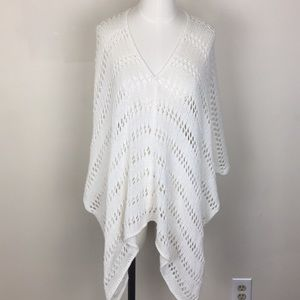 Anthro Wooden Ships Open Knit Poncho S/M